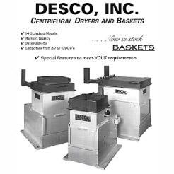 DESCO Centrifugal Dryers